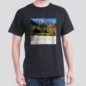 Kalalau Beach Kauai Dark T-Shirt